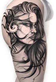 25组特性的暗黑灰纹身作品图