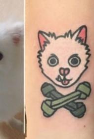 很可爱的一组卡通小动物纹身图片