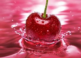 一组红红的大樱桃特写图片欣赏
