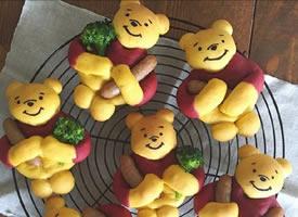 一组超级可爱的小熊可爱面包
