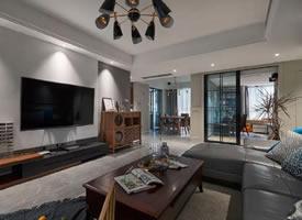简约现代风格三居室装修案例,莫名一种沉稳内敛的舒适感