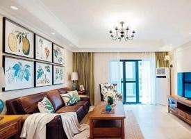 144㎡现代美式混搭四居室装修效果图欣赏