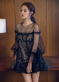 安以軒黑色透視紗裙性感寫真圖片欣賞