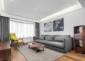 125㎡简约北欧风格三居室,家具和木制品用的都不错,质感很强