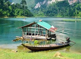 一组湖边小木屋风景高清图片欣赏