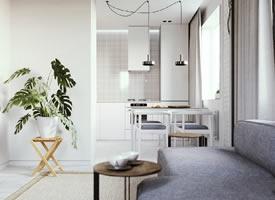 54m2现代北欧混搭风格小家装修效果图欣赏