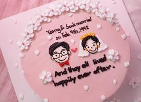一组甜甜可爱图案的蛋糕图片欣赏