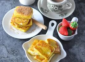 一组有夹心的美味营养面包早餐系列
