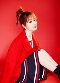 一組楊紫參加春晚穿紅衣賀新年的圖片欣賞