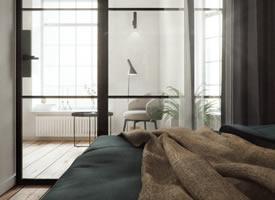 妙用玻璃隔断的单身公寓 小户型也能做出大空间