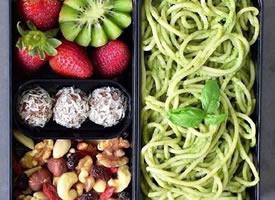 一组超级营养加上水果的减脂便当图片欣赏