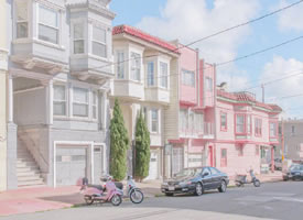 一组颜色特别小清新的建筑的小镇图片欣赏