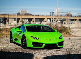 荧光绿色 兰博基尼 Huracan锻造碳纤维可太帅了