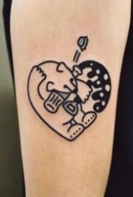 23组卡通的小心爱心形纹身图片