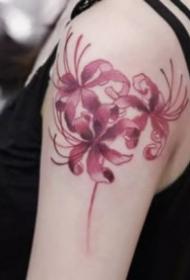 漂亮的一组曼陀罗彼岸花纹身图案