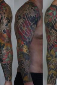 老传统风格的9张花臂纹身作品图