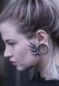 頭部面部的一組個性紋身作品