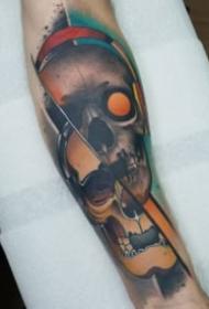 霸氣側露的包大臂骷髏紋身圖案