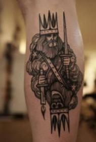 恐怖骷髏主題的一組暗黑色紋身圖片