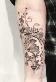 18张好看的手臂点刺纹身图片赏析