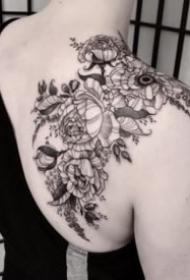 27组欧美暗黑灰动物等纹身作品
