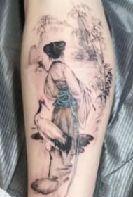 传统中国风元素的男生纹身欣赏