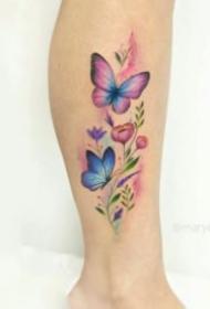 适合女生的18张小清新花朵纹身图片