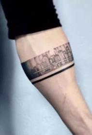 9张黑色的臂环手环纹身图片