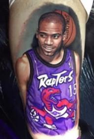 国外球星的一组写实肖像纹身图案