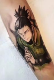 包小臂的卡通动漫人物纹身作品