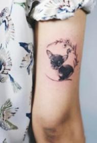 很可爱的宠物小狗狗纹身图片9张