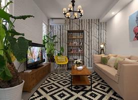 50平一居室小户型装修效果图,温馨