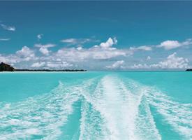 波澜壮阔的大海,无边无际,风景壮观迷人壁纸
