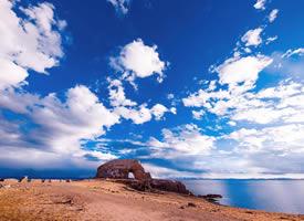 西藏圣象天门超美的蓝天白云风景图片