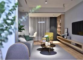 80㎡简约温馨的北欧两居室装修效果图