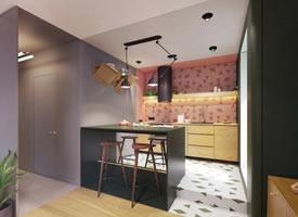 48平现代极简风,充满减压感的色彩之家 ????