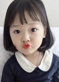 一組超可愛的小女孩學生短發發型圖片