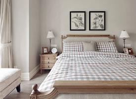 簡約美式三居室裝修效果圖,淡雅舒適