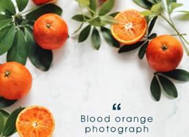 一组血橙饱满的都能掐出水来