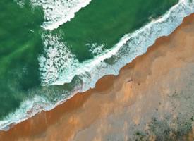 滿視野的藍色 無暇 透明 純潔 安靜的大海