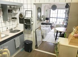 25m²开间公寓改造,即使出租房再小,也不能委屈了自己