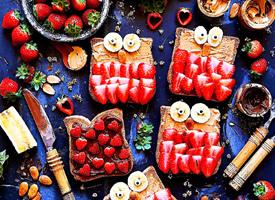 一组特别漂亮的草莓盛宴图片欣赏