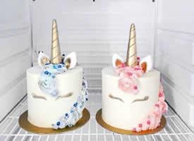 一组特别精致好看的独角兽蛋糕图片