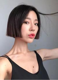 一剪齐短发-女神范十足  cr:发型精选图