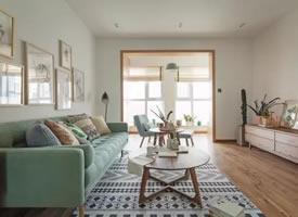 124平现代简约风格三居室  ,大爱这个色调