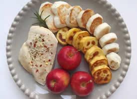 水果蔬菜营养搭配的早餐图片欣赏