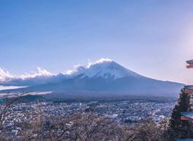 景色十分美丽的富士山风景图欣赏
