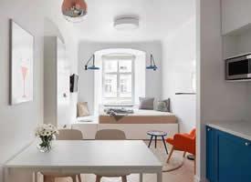 烏克蘭27㎡小而迷人的公寓裝修效果圖