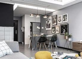 90㎡休闲北欧风格家居装修设计,极简黑白灰的经典之作