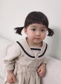 一组超级可爱的圆脸小女孩发型图片欣赏